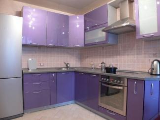 Кухня сиреневая угловая - Мебельная фабрика «Династия»