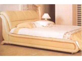 Бежевая двуспальная кровать Орхидея  - Мебельная фабрика «Маркиз»