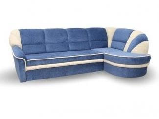 Голубой тканевый диван Соло