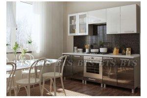 Небольшая прямая кухня Титан - Мебельная фабрика «BTS»