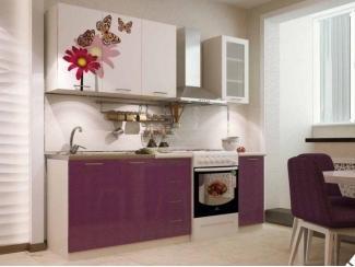 Фиолетовая кухня с фотопечатью КФ-83 - Мебельная фабрика «Северин»