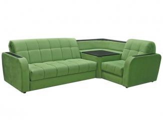 Зеленый угловой диван Дублин