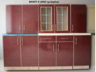 кухня прямая Визит К красный  - Мебельная фабрика «Киржачская мебельная фабрика»