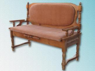 Кухонный диван Точеный с подлокотниками - Мебельная фабрика «Заря»