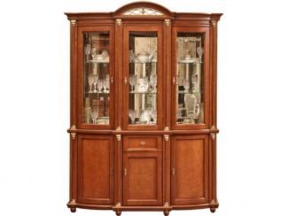 Шкаф с витриной Валенсия 3з П 244.11 (зеркало) - Мебельная фабрика «Пинскдрев»