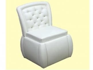 Белый пуф со спинкой - Мебельная фабрика «Дария»