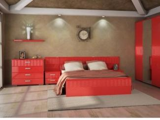 Спальный гарнитур Волна красная