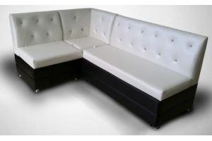Черно-белый кухонный уголок Бергамо - Мебельная фабрика «Поволжье Мебель»