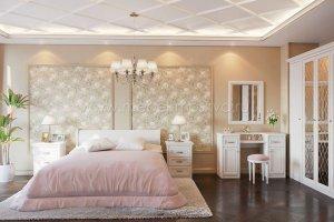 Классическая спальня Рапсодия Ида 1 - Мебельная фабрика «Мебель-Москва»