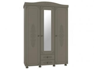 Распашной шкаф с зеркалом Грей  - Мебельная фабрика «Компасс»