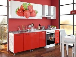 Кухня с фотопечатью Клубника - Интернет-магазин «ГОСТ Мебель»