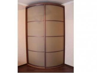 Радиусный шкаф с встроенным зеркалом - Мебельная фабрика «ТРИ-е»