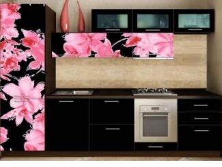 Кухня Орхидея-21 фотопечать