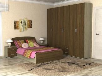 Спальня ЛДСП Дуб устричный Дуб Кофейный  - Мебельная фабрика «Феникс-мебель»