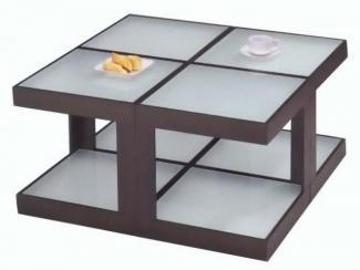 Стол журнальный деревянный квадратный-А 1603 - Импортёр мебели «МебельТорг»