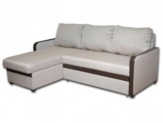 Светлый угловой диван с оттоманкой - Мебельная фабрика «Магнолия»