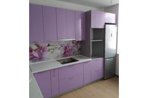 Фиолетовая кухня мдф с фотопечатью - Мебельная фабрика «ДиВа мебель»