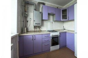Фиолетовая пластиковая кухня - Мебельная фабрика «Агата»