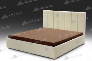 Кровать спальная светлая Флоренция 8 - Мебельная фабрика «Логос-юг»