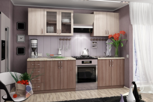 Функциональная прямая кухня - Мебельная фабрика «Lakma»