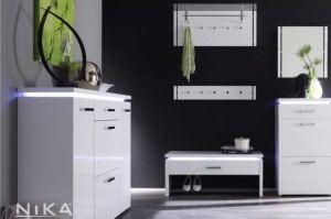 Глянцевая белая прихожая Елена PRH5 - Мебельная фабрика «NIKA premium»