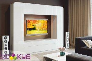 Глянцевая белая стенка - Мебельная фабрика «КУБ»