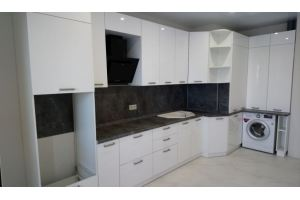 Глянцевая кухня угловая - Мебельная фабрика «Смоленскмебель»