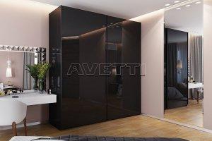Глянцевый шкаф-купе - Мебельная фабрика «Avetti»
