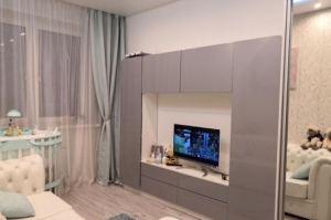 Глянцевая стенка в гостиную - Мебельная фабрика «SamSam»