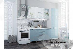 Голубая кухня фотопечать Бьянка - Мебельная фабрика «BTS»