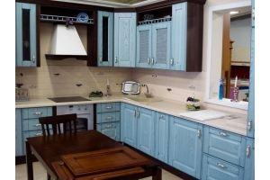 Голубая кухня в стиле Прованс - Мебельная фабрика «Массив»