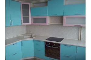 Голубая угловая кухня - Мебельная фабрика «Мебельная мастерская»