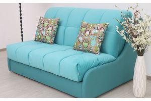 Голубой диван аккордеон Турин - Мебельная фабрика «Риваль»