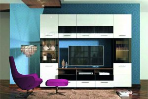 Гостиная глянцевая 6 - Мебельная фабрика «Фаворит»
