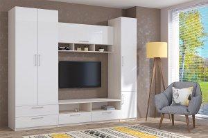 Гостиная Аллегро 9 ЛДСП вариант 1 - Мебельная фабрика «ДИАЛ»