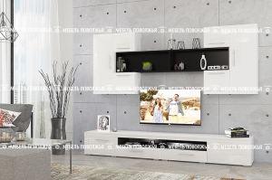 Гостиная Аляска белый глянец - Мебельная фабрика «Мебель Поволжья»