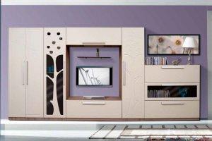 Гостиная Аврора 16 Райские яблочки - Мебельная фабрика «Аджио»