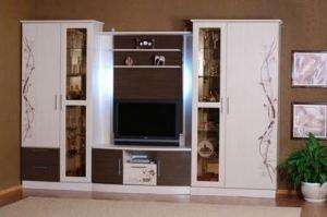Гостиная белая с фотопечатью 002 - Мебельная фабрика «La Ko Sta»