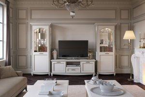 Гостиная белая San Remo (Bianco) - Мебельная фабрика «Свобода»