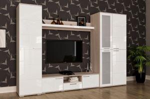 Гостиная белый глянец - Мебельная фабрика «Мульто»