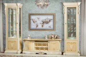 Гостиная бежевая Ева - Мебельная фабрика «Северо-Кавказская фабрика мебели»
