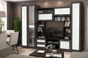 Гостиная Флора Caiman белый - Мебельная фабрика «ДиВа мебель»