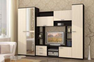 Гостиная ЛДСП с зеркалом Флора - Мебельная фабрика «ДиВа мебель»