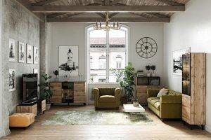 Гостиная Forest в стиле Лофт - Мебельная фабрика «ОГОГО Обстановочка!»