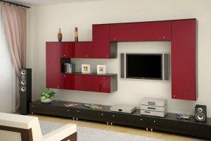 Современная гостиная Графика - Мебельная фабрика «КухниСтрой+»