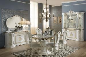Гостиная Грета белый с золотом - Мебельная фабрика «Меридиан»