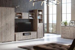 Гостиная из дерева Лофт - Мебельная фабрика «Woodcraft»