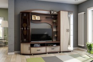 Гостиная Кайса МДФ - Мебельная фабрика «Террикон»