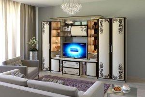 Гостиная Кристина-3 с фотопечатью - Мебельная фабрика «СМ-Мебель»