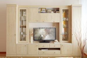 гостиная Лира (клен танзай+эмаль) - Мебельная фабрика «Орёлмебель»